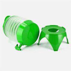 TQP-CK Collapsible Folding Portable Kettle Drinks Container Camping Drink/Beer/Wine/Water/Punch Dispenser 5.5L Party BBQ Keg Green