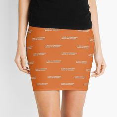 'a guilty conscience needs no accuser' Mini Skirt by Kykilos Guilty Conscience, Cute Gifts For Her, Knitted Fabric, Mini Skirts, Pencil, Ballet Skirt, Printed, Awesome, People