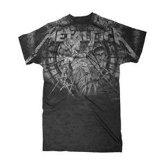 Metallica Stone Justice T-Shirt - Rock the memorable and meaningful album cover on this Metallica Stone Justice T-Shirt.