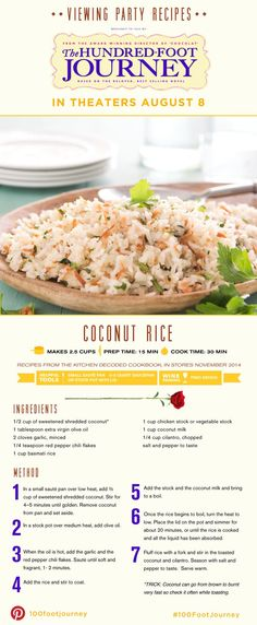 Coconut Rice - 100 Foot journey