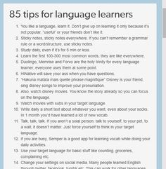 85 tips for sproglørnere 85 tips for language learners Korean Language Learning, Learning Spanish, Foreign Language, Spanish Language, Learning Italian, German Language, Spanish Activities, Dual Language, Italian Language