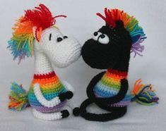 Rainbow horse amigurumi pattern free