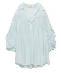 ギャザースリーブチュニック(Tシャツ/カットソー) snidel(スナイデル)のファッション通販 - ZOZOTOWN