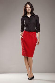 Fusta cu buzunare - Rosu Brand: T! Pleated Skirt, Waist Skirt, High Waisted Skirt, Tights, Skirts, Inspiration, Color, Women, Style