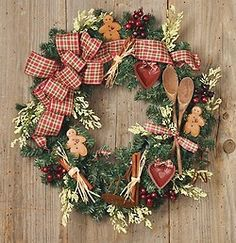 What a great idea -- a kitchen Christmas wreath to go with my kitchen Christmas tree! #WhirlpoolHoliday