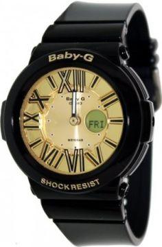 Relógio Casio Baby G Neon Illuminator Gold Dial Women's Watch - BGA160-1B #relogio #babyg
