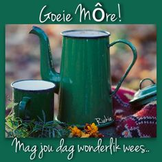 Goeie Nag, Goeie More, Afrikaans, Good Morning Quotes, Deep Thoughts, Qoutes, Advice, Coffee, Phone