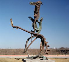 Propagating by Andrew Rogers, 1999. Silicon Bronze.