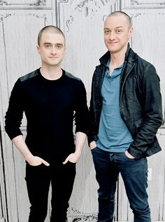 James McAvoy and Daniel Radcliffe take part in the AOL BUILD Speaker Series: 'Victor Frankenstein' at AOL Studios In New York on November 9, 2015 in New York City.