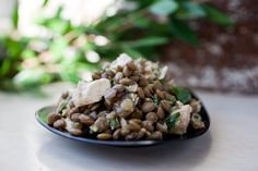 Lentils and tuna are a wonderful combination This mixture also makes a great stuffing for tomatoes.