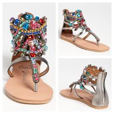 f751fb85f9a Jeffrey Campbell Petwer Jewelled Prizzy Sandal Jeffrey Campbell