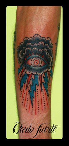 neo traditional tattoo #eye tattoo #old school tattoo