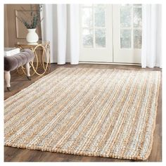 Serena Natural Fiber Accent Rug - Gray / Natural (2' 6 X 4') - Safavieh