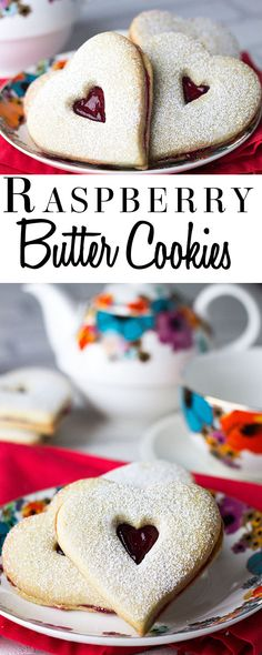 Raspberry Butter Cookies - Erren's Kitchen - This Simple linzer style sandwich cookie recipe is just the right balance of the tart raspberry filling and the tender, buttery sweetness of the cookie.