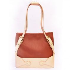 rust leather tote