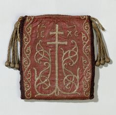 10th Century German Reliquary Bag in color