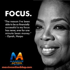 """The reason I've been able to be so financially successful is my focus has never, ever for one minute been money."" - Oprah, Harpo #massiveactionblog #quotes  For more #inspirational #quotes follow @evancarmichael _____________________________  Double tap if you agree and tag someone who needs to see this."