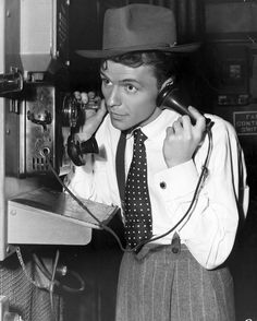 0 Hello - frank sinatra on the phone set of the film Step Lively