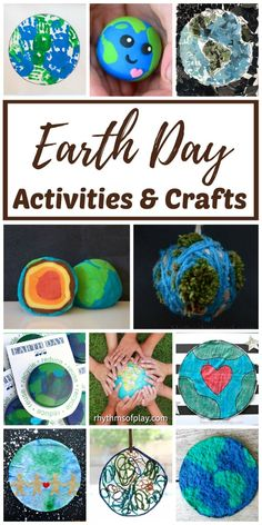 Earth Day Activities And Crafts For Kids Teach Your Children To Celebrate And Care For The Earth Every Day With These Fun Activities, Lesson Plans, Science Ideas, Recycled Crafts, And Easy Earth Day Crafts For Kids. Easy Crafts For Kids, Toddler Crafts, Diy For Kids, Fun Crafts, Children Crafts, Amazing Crafts, Earth Day Activities, Spring Activities, Craft Activities