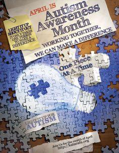 Autism Awareness Graphics Set and Autism Awareness Month Kick Off at Kat's Cafe