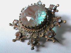 Antique Victorian Saphiret Brooch