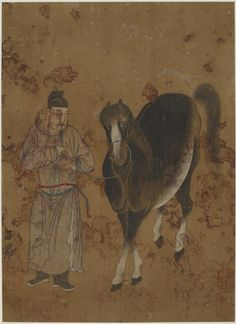 Man leading a horse | 17th-19th century | Zhao Mengfu (Chinese, 1254-1322) | Ming or Qing dynasty | Ink and color on silk | China | Gift of Charles Lang Freer | Freer Gallery of Art | F1911.498