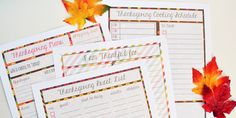 thanksgiving planning printables