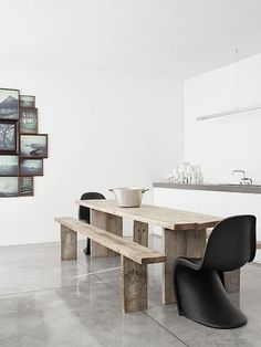 31 Timeless Minimalist Dining Rooms And Spaces | DigsDigs