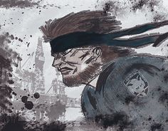 """Check out new work on my @Behance portfolio: """"Solid Snake project."""" http://be.net/gallery/43945823/Solid-Snake-project"""
