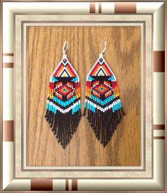 Long Beaded earrings  Western Swing Dance by Bead4Fun on Etsy