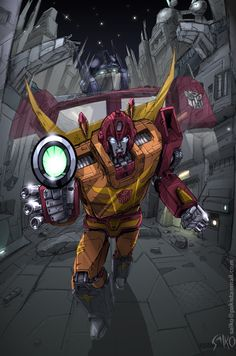 Done for a competition to win a Rodimus Prime reissue figure. The prize got snagged by though. *grumble grumble*