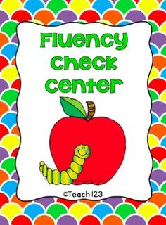 FREE Fluency Check Center - aligned with Common Core Standards