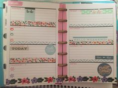 Another week in my Mini Happy Planner. I used the Mambi sticker book Color Story and Mambi washi tape to put this look together. Love it!
