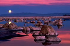 Our sky is blue, our grass is green, our snow is white...but at sunrise and sunset they blaze with colors so intense we think about the sky as being on fire and we marvel that it can happen.   Carol   (Mono Lake, California.)