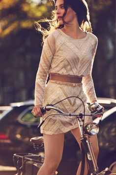 "Pedalin' Pretty: Presenting Free People's January ""Girls On Bikes"" Catalog"