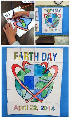 Have everyone contribute by doing their part to make a classroom mosaic poster celebrating Earth Day!