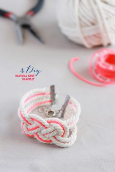 Nautical rope bracelet, LOVE THIS, also for you Sara :)