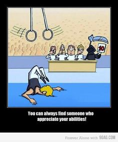 Just a little death Humor Gymnastics Funny, Gymnastics Posters, Funny Fails, Funny Jokes, Hilarious, Funniest Jokes, Mau Humor, Best Funny Images, Seriously Funny