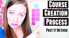 How to create an online course outline - Want to get started creating an online course but not sure how to get started or organize all your ideas?  Check out my Post It method to getting my most recent course planned!