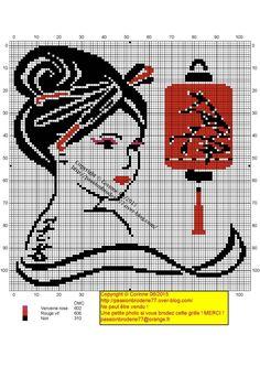 Geisha lampion