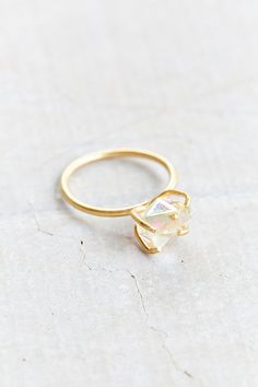 Raw Crystal Rock Ring - Urban Outfitters