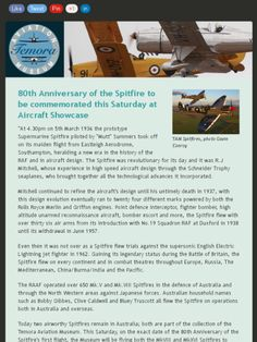 Spitfire first flew in 1936. Temora has two that are still flying. The Ryan Air trainer is an Art Deco inspired machine that is still beautiful to behold! :)