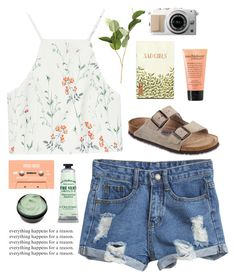 sweet nothing by carolineecs22 on Polyvore featuring polyvore, ファッション, style, Zara, Birkenstock, philosophy, L'Occitane, OKA, fashion and clothing