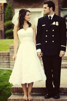I'm kind of liking this whole tea length dress idea...minus the veil...