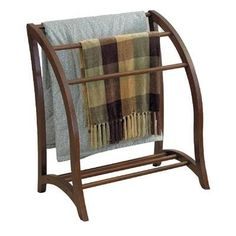 Get cozy with your favorite blanket on a spring evening. Keep them organized with this blanket rack!