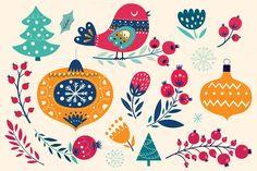 New Year's Illustrations & elements by MoleskoStudio on @creativemarket