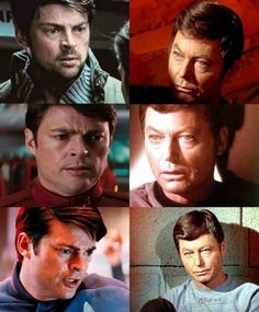 "Leonard Nimoy: ""When Karl Urban introduced himself as Leonard McCoy and shook hands with Chris Pine [as Captain Kirk], I burst into tears. I thought that performance of his would be so moving, so touching, so powerful, as Dr. McCoy that I think [DeForest Kelley] would be smiling, and maybe in tears as well."""