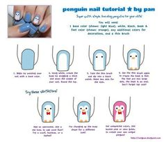 Penguin! #hair makeup and nails