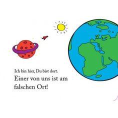 Lustige Postkarte: Ich bin hier, du bist dort. Einer von uns ist am falschen Ort. bei Grusskartenladen.de