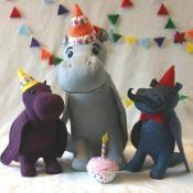 Hippo Birdie - via @Craftsy